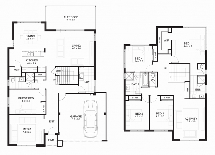 Top Double Storey Residential House Plans New Story Modern House Plans Double Story Modern House Plans Picture