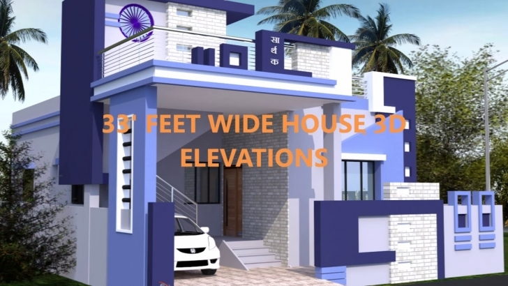 Top Feet Wide House 3D Elevations - Youtube 20 Feet Wide House Front Elevation Image
