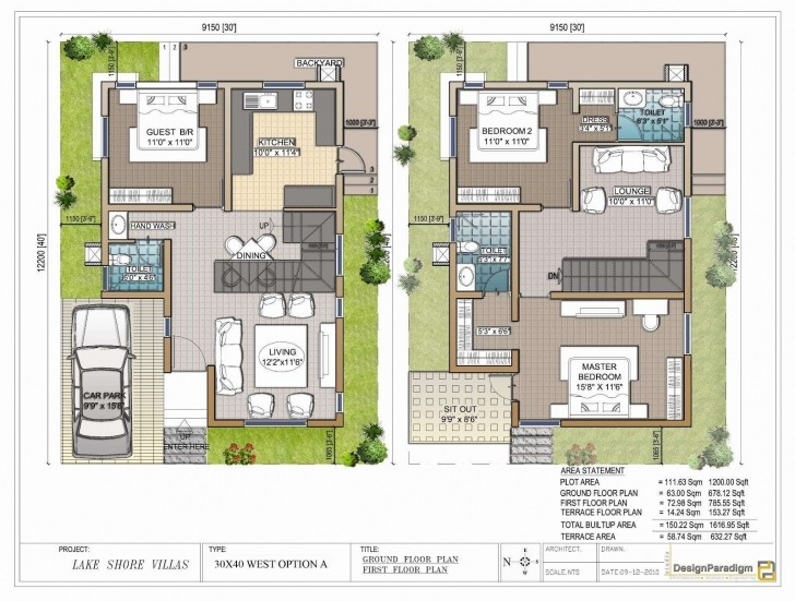 Top Neoteric 12 Duplex House Plans For 30X50 Site East Facing 40 X 60 House Plan For 30x50 Plot East Facing Image