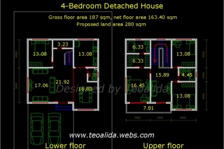 G+2 Residential Building Plan In Autocad