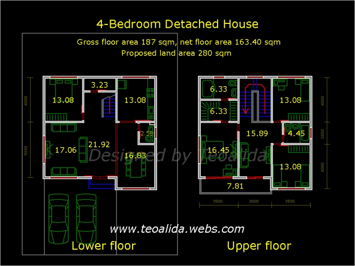 Top Photo of 2 Storey House Floor Plan Autocad - House Design Plans G+2 Residential Building Plan In Autocad Photo