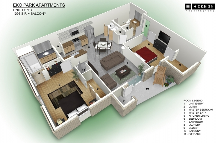 Top Photo of 3D Apartment Design Apartment Living Room Apartment Design 3D Plan 2550 House Plan 3d Image