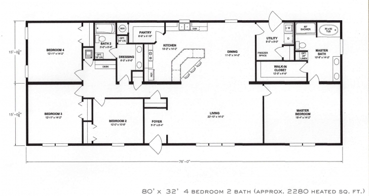 Top Photo of 4 Bedroom Flat Plan Drawing – Home Plans Ideas Four Bedroom Flat Plan Image