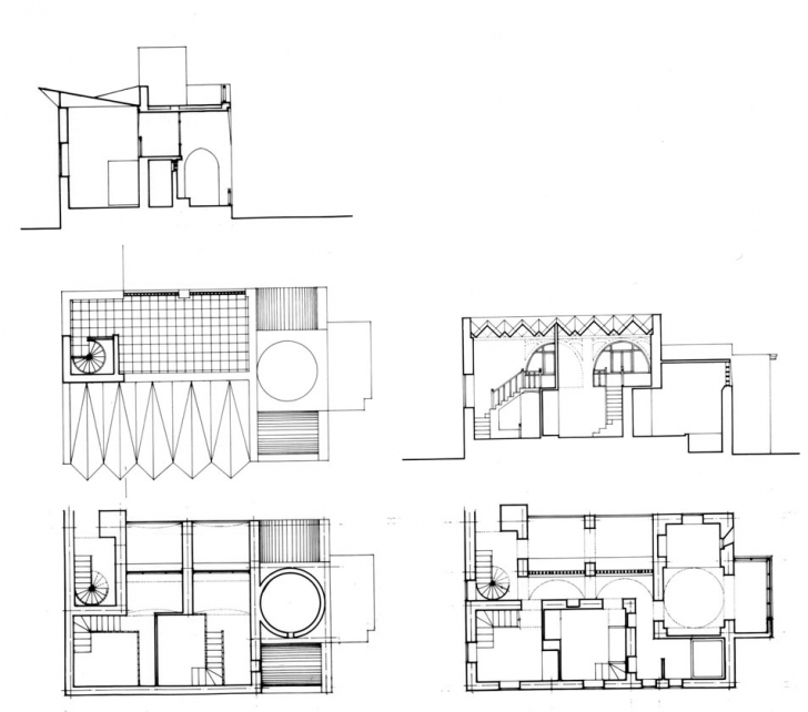 Top Photo of Architectures : House Plan And Elevation Of A House Section Px House Plan Elevation And Section Drawings Photo