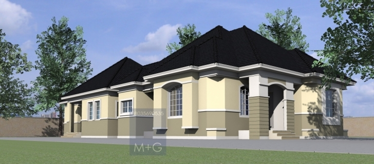 Top Photo of Contemporary Nigerian Residential Architecture: 4 Bedroom Bungalow Four Bedroom Flat Design In Nigeria Image