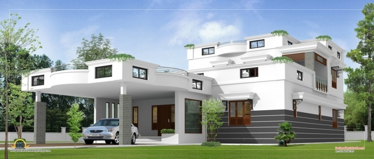 Top Photo of Design : Contemporary Home Design Kerala Floor Home Building Plans Kerala Model House Parapet Designs Picture