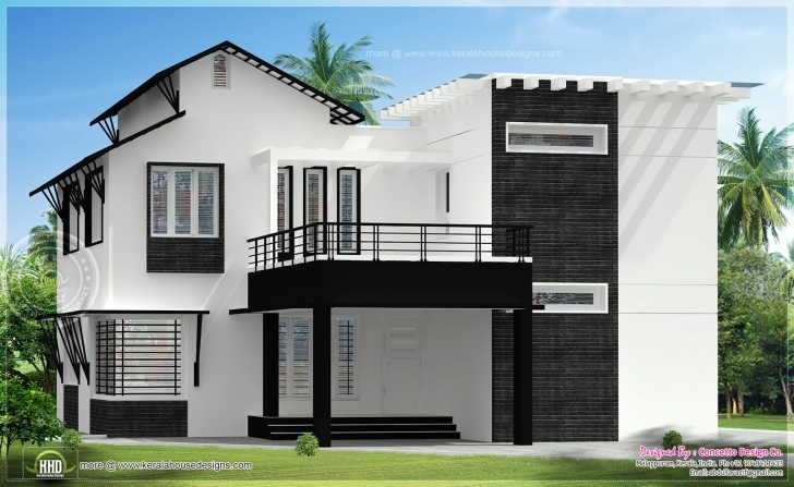 Top Photo of Front Elevation For Ground And First Floor - Round Designs Ground And First Floor House Elevation Designs Image