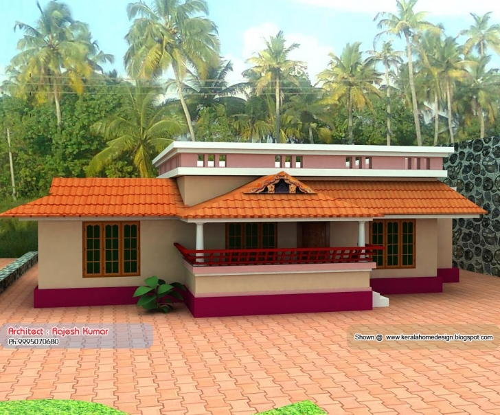 Top Photo of Home Plan Elevation Kerala Design Floor - Building Plans Online | #59360 Simple Indian Village House Design Pictures Image