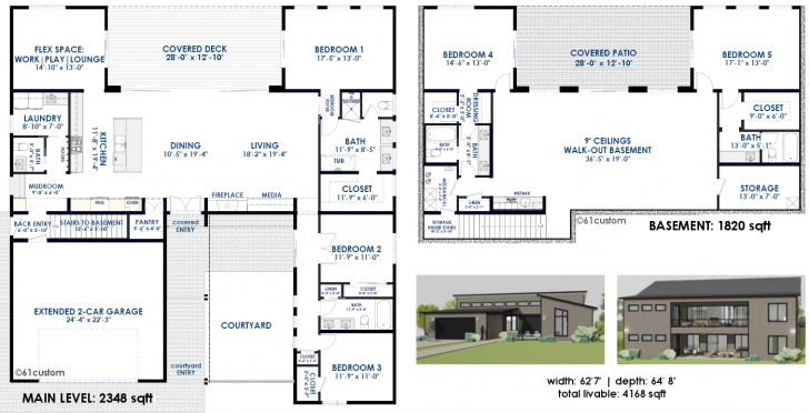 Top Semi-Custom Home Plans | 61Custom Modern Home Plans Custom Designed Home Plans Picture
