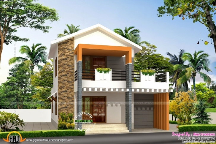 Top Small Double Storied House Feet Kerala Home Design - Home Plans 1000 Sq Ft Double Floor House Plans In Kerala Pic