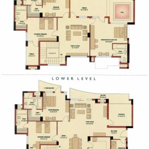 Four Bedroom Duplex House Plans