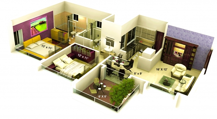 Wonderful Famous Duplex House Floor Plans Indian Style — House Style And Plans Ground Floor Plan For 1000 Sq Feet 3d Picture