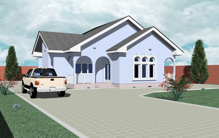 Wonderful Home Architecture: Bedroom Bungalow House Designs Plans Ghana On Simple House Designs In Ghana Pic