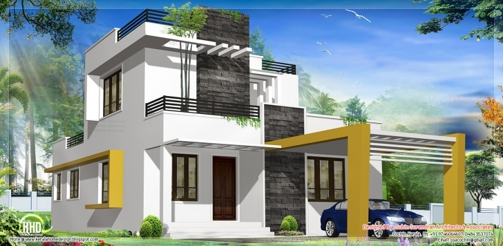Wonderful Modern Contemporary House Kerala Home Design Floor Plans - Home Small Contemporary House Plans In Kerala Photo
