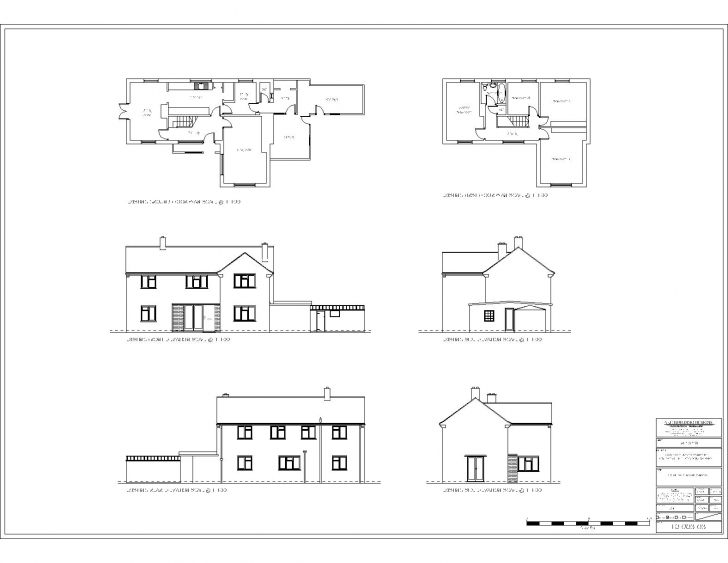 Wonderful Modern House Floor Plan With Elevation Awesome Glamorous Simple Simple Plan Elevation Section Of Residential Building Pic