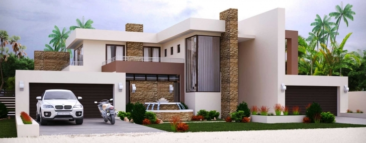 Wonderful Modern Style House Plan Bedroom Double Storey Floor Plans Home 4 Bedroom Double Storey House Plans In South Africa Picture