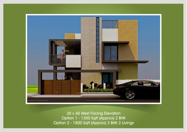 Wonderful West Facing House Plan, Single Villa For 2Bhk Front Elevation 2bhk House Plan And Elevation Pic